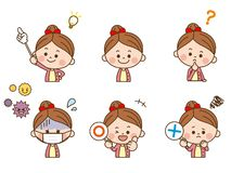 Girl facial expression stock illustration