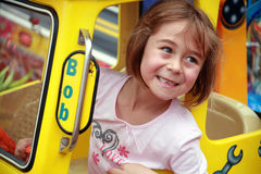 Cute Girl at the Fairground Royalty Free Stock Photo