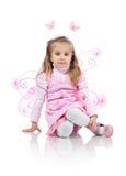 Cute girl in fairy costume Stock Photos