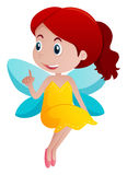 Cute girl in fairy costume. Illustration Stock Images