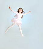 Cute girl in fairy costume jumping Royalty Free Stock Images
