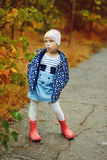 Cute girl in fall Royalty Free Stock Photography