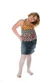 Cute girl in fashionable tank top Royalty Free Stock Photography