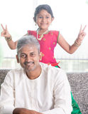 Cute girl and father Stock Photo