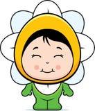 Cute Girl Flower Royalty Free Stock Photo