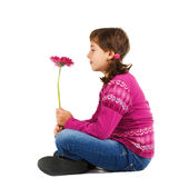 Cute girl with flower Stock Photo