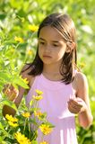 Cute Girl in the Garden Stock Photography