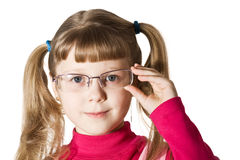Cute girl in glasses Royalty Free Stock Photography