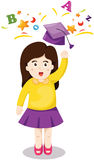 Cute girl graduation Royalty Free Stock Photos