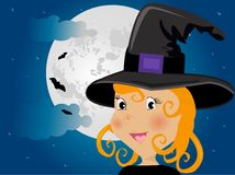 Cute girl in halloween costume Royalty Free Stock Photo