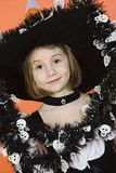 Cute Girl In Halloween Outfit Stock Photography