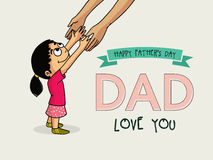 Cute girl for Happy Fathers Day celebration. Royalty Free Stock Image
