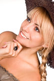 Cute girl in hat Royalty Free Stock Photography