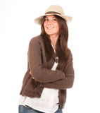 Cute Girl with hat Stock Image
