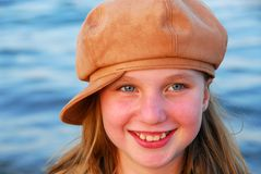 Cute girl in a hat Royalty Free Stock Photo