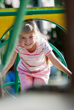 Cute girl having fun. Royalty Free Stock Image