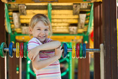 Cute girl having fun. Stock Image