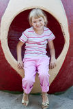 Cute girl having fun. Royalty Free Stock Images