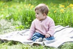 Cute girl having fun outside. Royalty Free Stock Photography