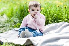 Cute girl having fun outside. Stock Photography