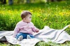 Cute girl having fun outside. Stock Photos