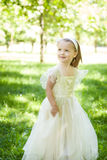 Cute girl having fun in the park Royalty Free Stock Photography