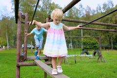 Cute girl having fun at playground Stock Photography