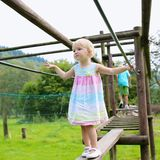 Cute girl having fun at playground Royalty Free Stock Photo