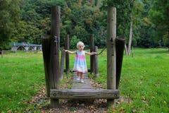 Cute girl having fun at playground Royalty Free Stock Image
