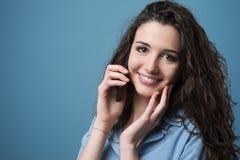 Cute girl having a phone call Stock Photo
