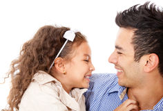 Cute girl with her dad Stock Images