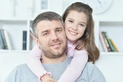 cute girl with her father Royalty Free Stock Images