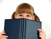 Cute girl hiding stock photos