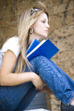 cute girl holding book Stock Photos