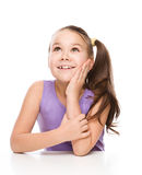 Cute girl is holding her face in astonishment Royalty Free Stock Images