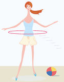 Cute girl with hoop Royalty Free Stock Photos