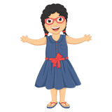 Cute Girl Huge Vector Illustration Stock Photography