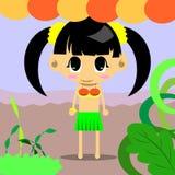 Cute girl hulahula of  Stock Photo