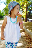Cute girl with ice cream Stock Photo