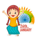 Cute girl for Indian Republic Day celebration. Stock Image