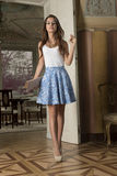 Cute girl in indoor fashion shot Stock Image