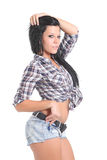 Cute girl in jeans short Royalty Free Stock Photo