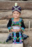 Cute girl from Laos Hmong Stock Photo