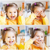 Cute girl is laughing Royalty Free Stock Photos