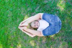 Cute girl legs upwards Stock Image