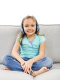 Cute girl listen music Royalty Free Stock Images