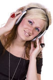 Cute Girl Listening to Music Royalty Free Stock Photo