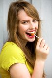 Cute Girl with Lollipop Royalty Free Stock Photo
