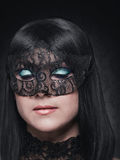 Cute girl in masquerade mask Royalty Free Stock Photos