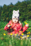 Cute Girl on the Meadow Stock Image